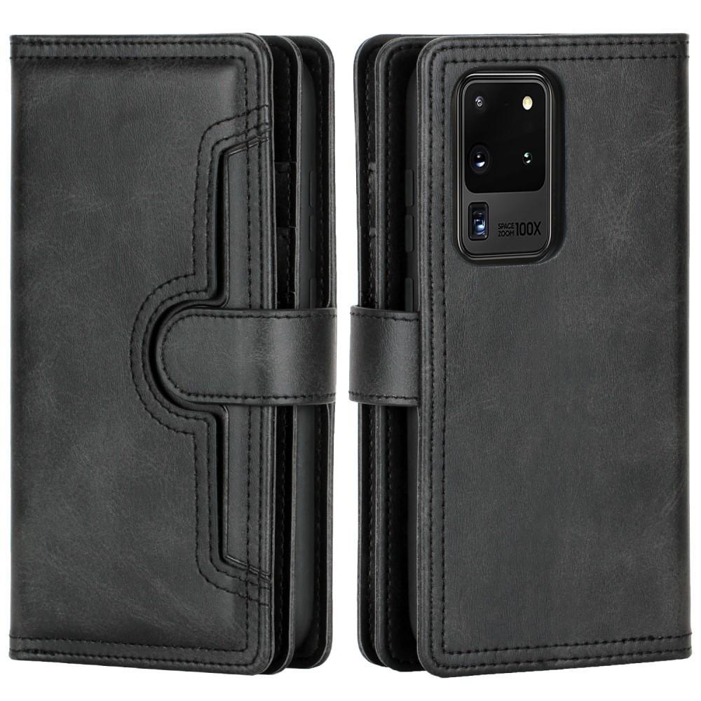 Läderplånbok Multi-slot Galaxy S20 Ultra svart