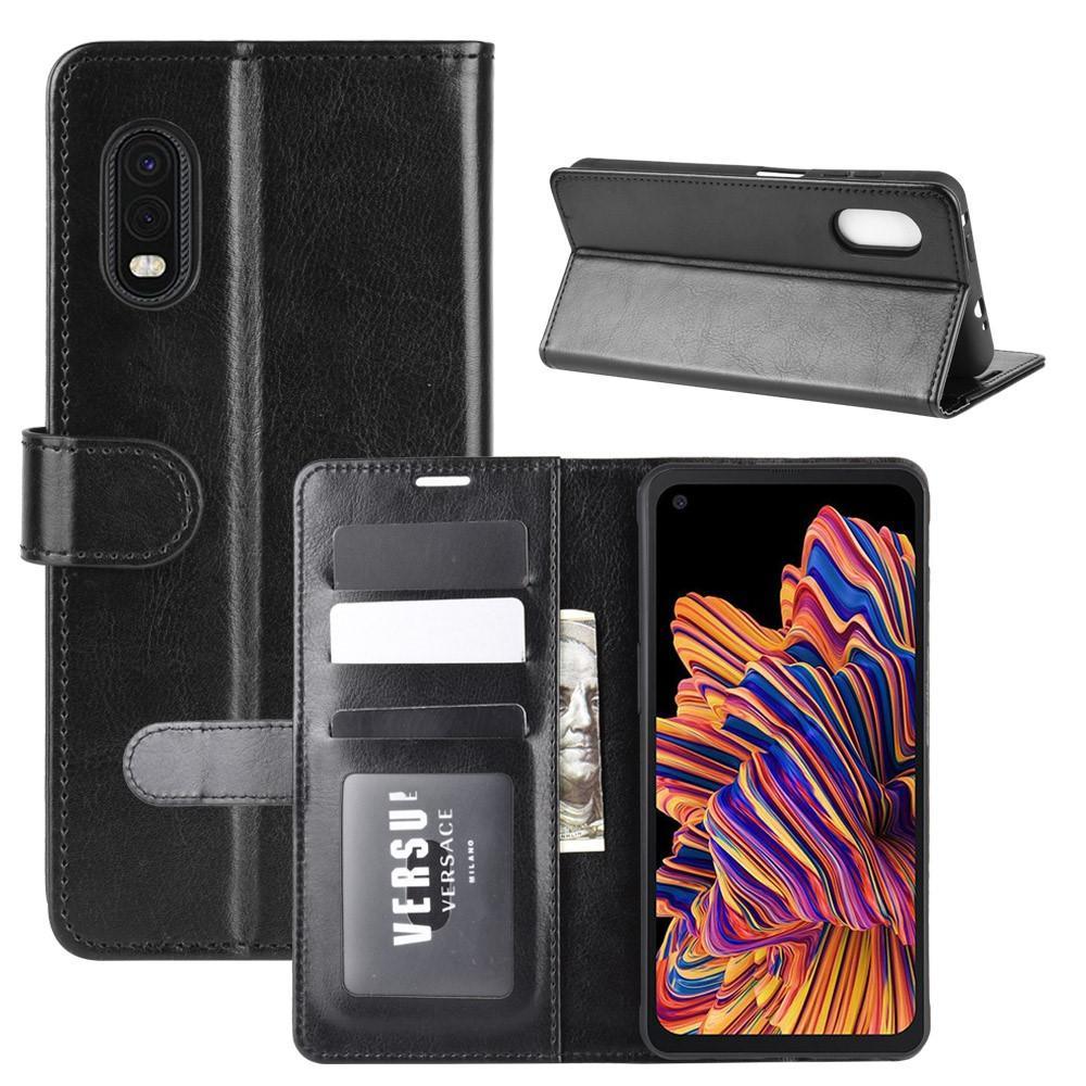 Läderplånbok Samsung Galaxy Xcover Pro svart