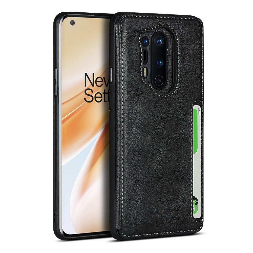 Leather Multi-slot Case OnePlus 8 Pro svart