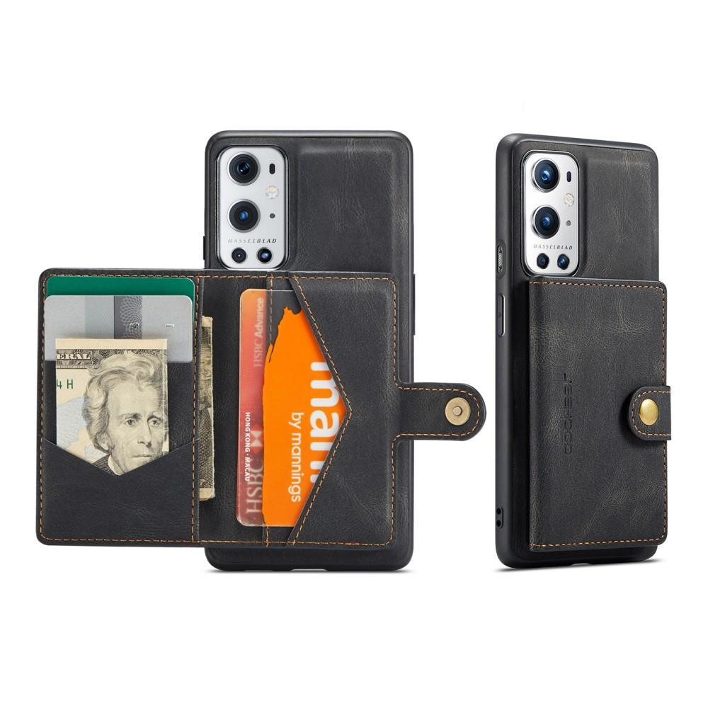 Magnetic Wallet Card Case OnePlus 9 Pro Black