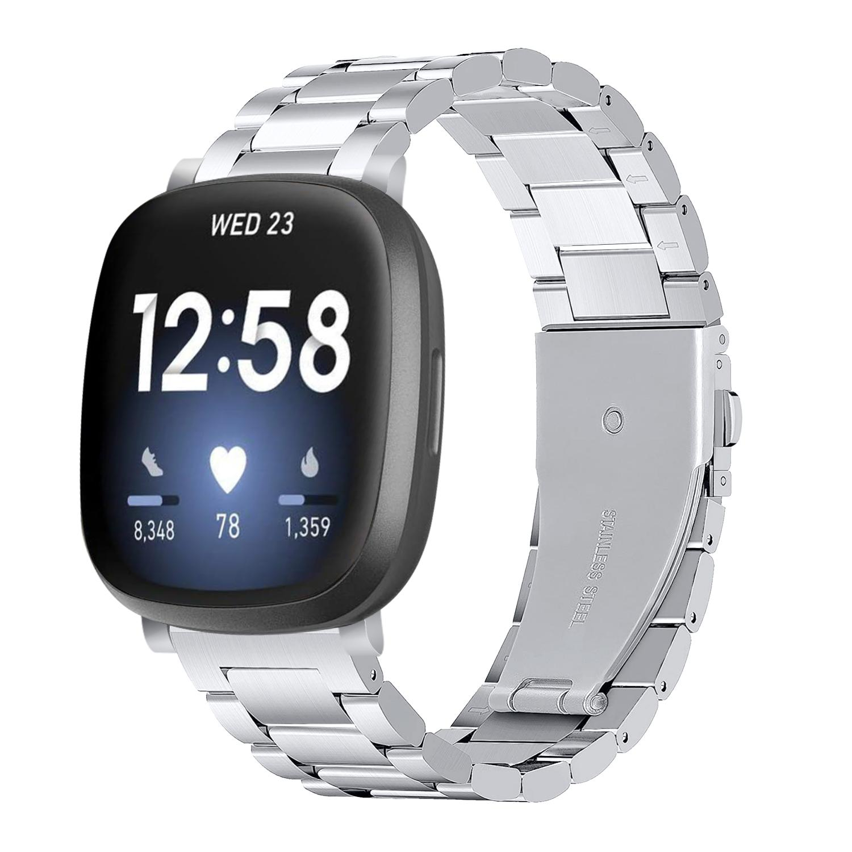 Metallarmband Fitbit Versa 3/Sense silver