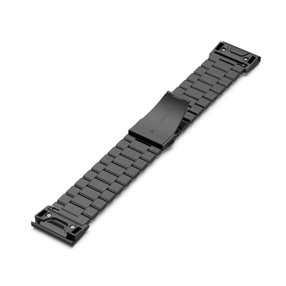 Metallarmband Garmin Fenix 5X/5X Plus/6X/6X Pro svart