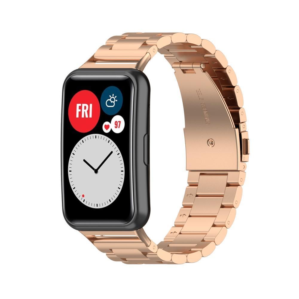 Metallarmband Huawei Watch Fit roséguld