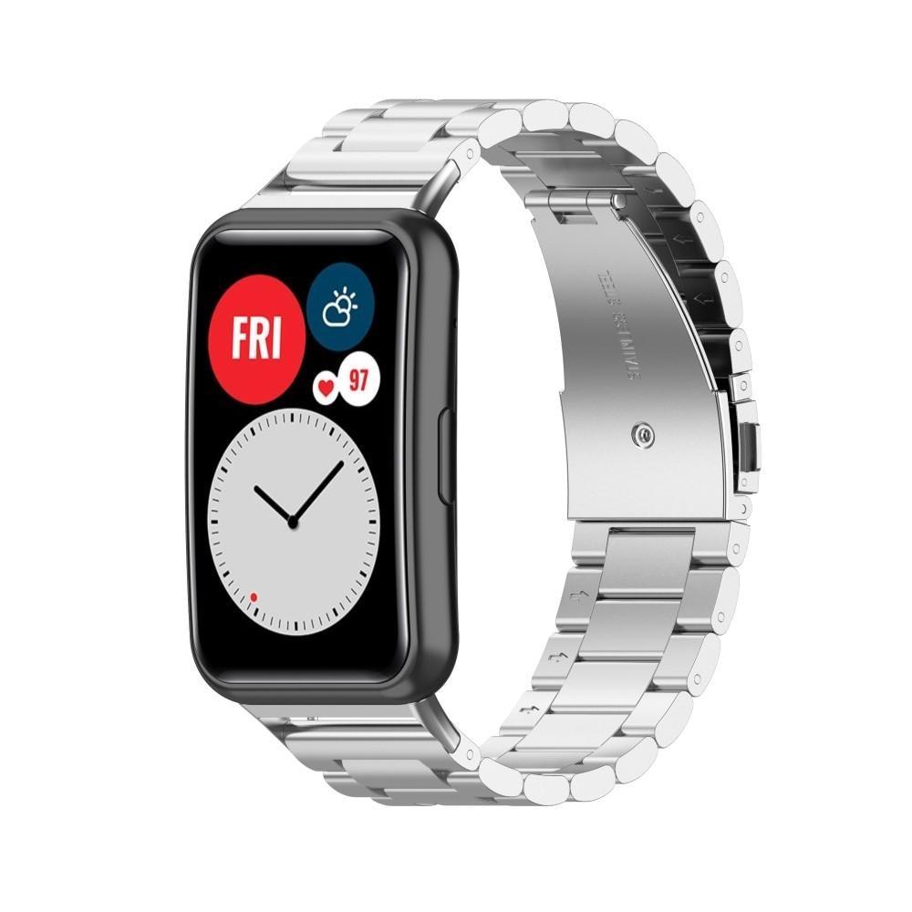 Metallarmband Huawei Watch Fit silver