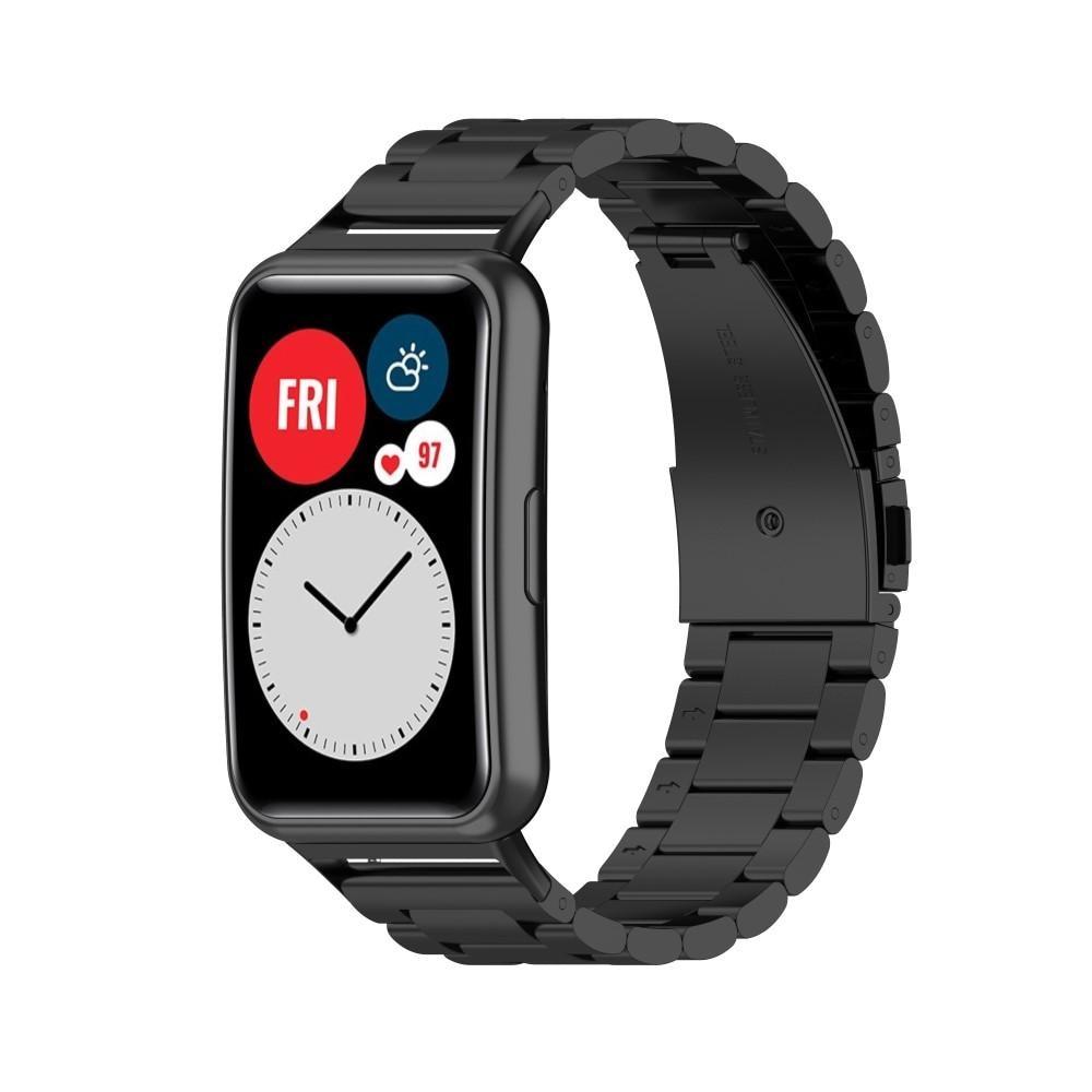Metallarmband Huawei Watch Fit svart