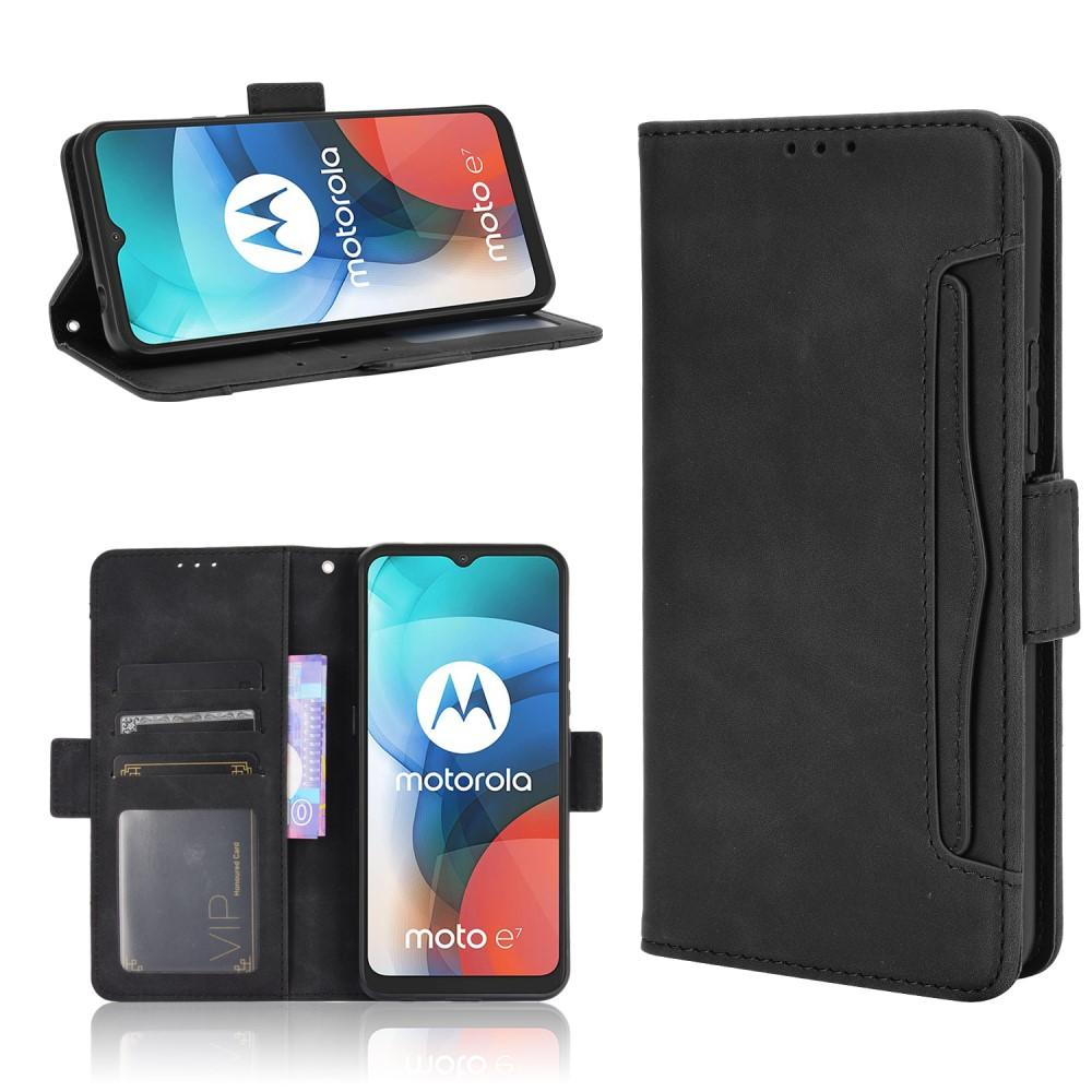 Multi Plånboksfodral Motorola Moto E7 svart