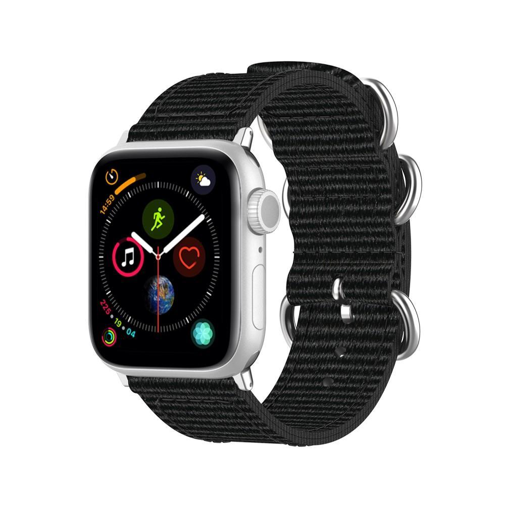 Natoarmband Apple Watch 38/40mm svart