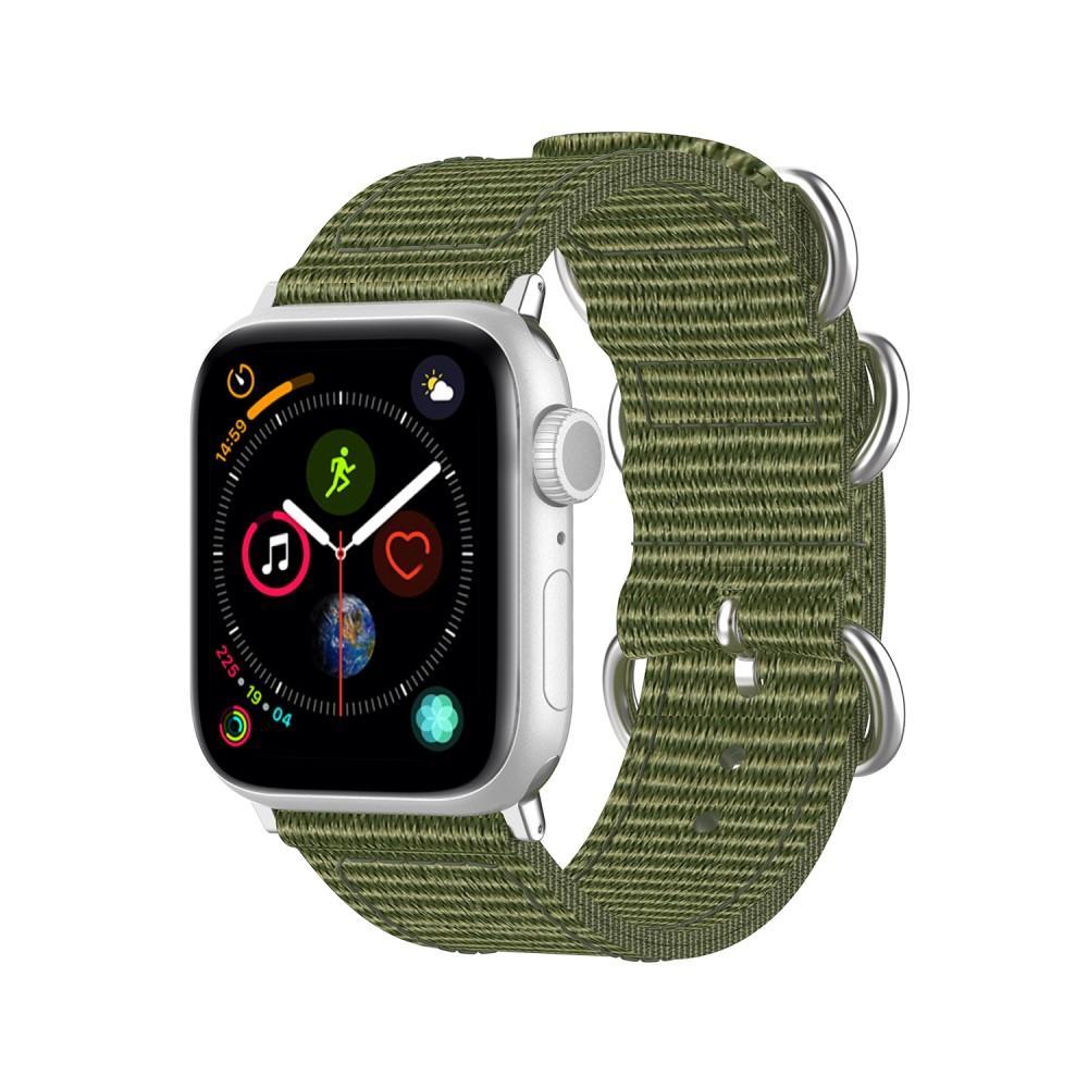 Natoarmband Apple Watch 42/44/45 mm grön
