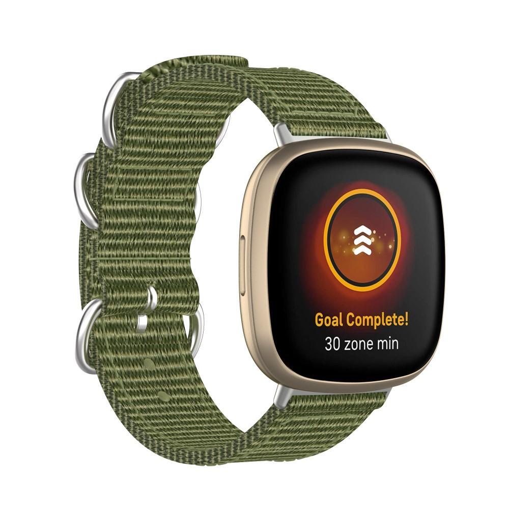 Natoarmband Fitbit Versa 3/Sense grön