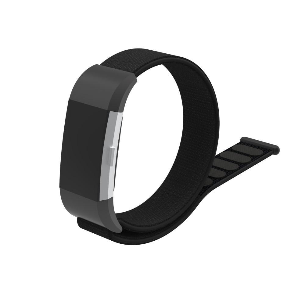 Nylonarmband Fitbit Charge 2 svart