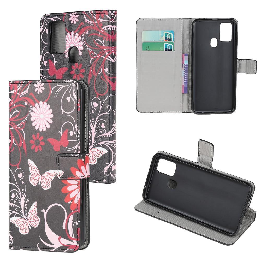 Plånboksfodral OnePlus Nord N100 svart fjäril