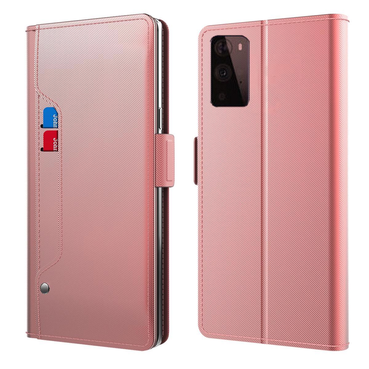 Plånboksfodral Spegel OnePlus 9 Rosa Guld