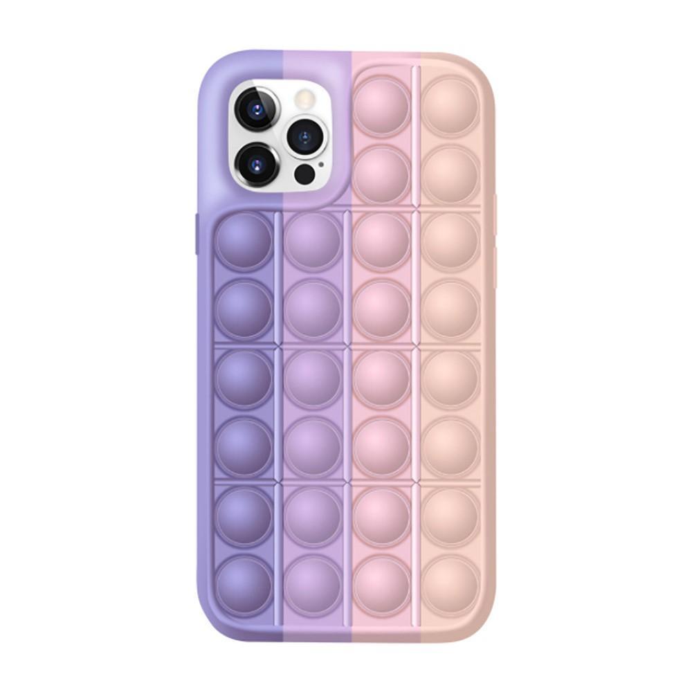 Pop It Skal iPhone 12/12 Pro rosa-lila