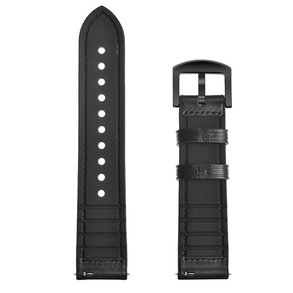 Premium Läderarmband Garmin Vivoactive 4/Venu 2 svart