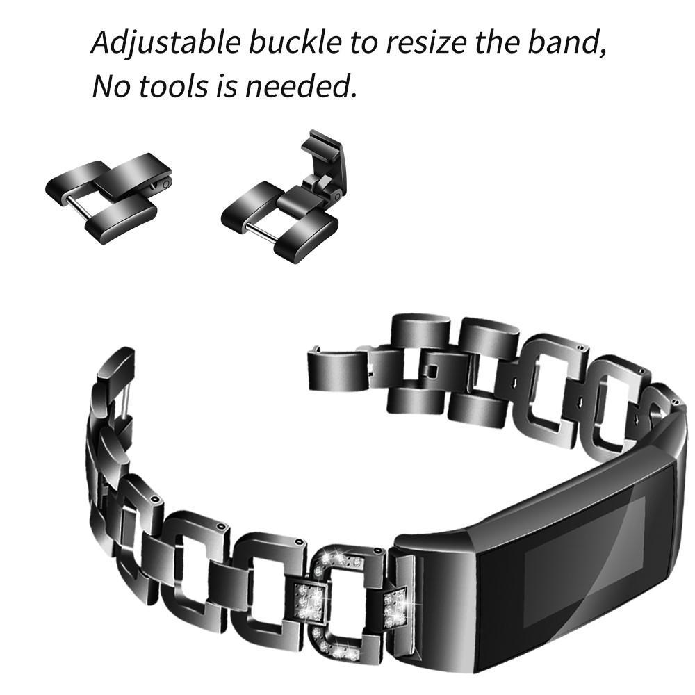 Rhinestone Bracelet Fitbit Charge 3/4 Black