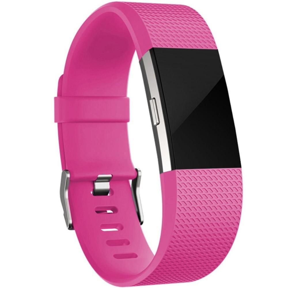 Silikonarmband Fitbit Charge 2 cerise