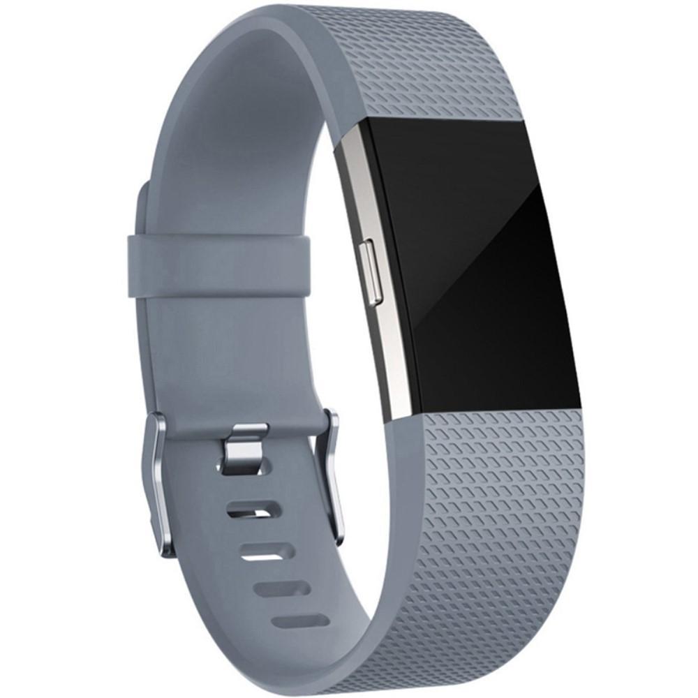 Silikonarmband Fitbit Charge 2 grå