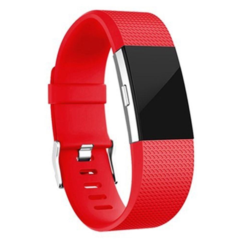 Silikonarmband Fitbit Charge 2 röd