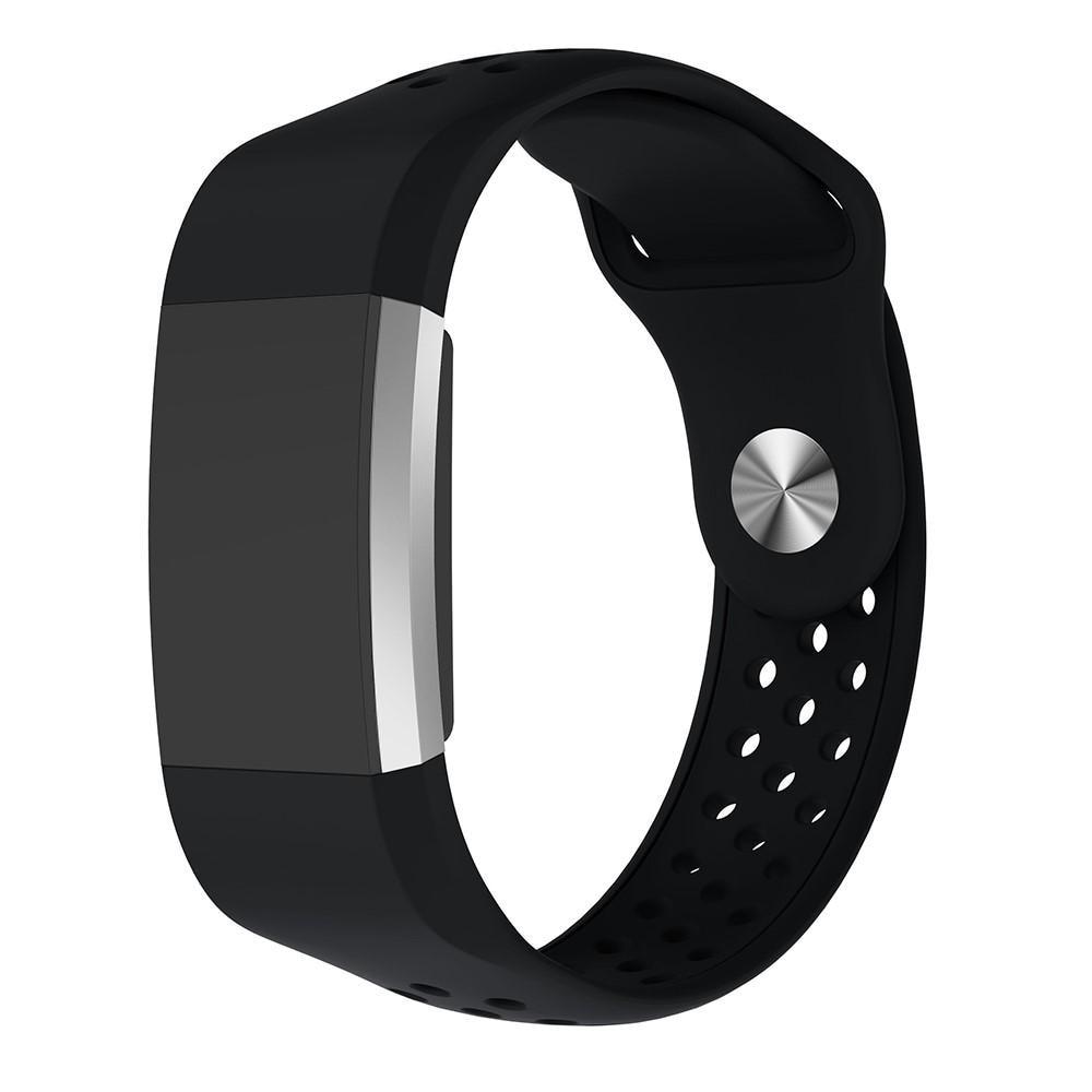 Silikonarmband Sport Fitbit Charge 2 svart