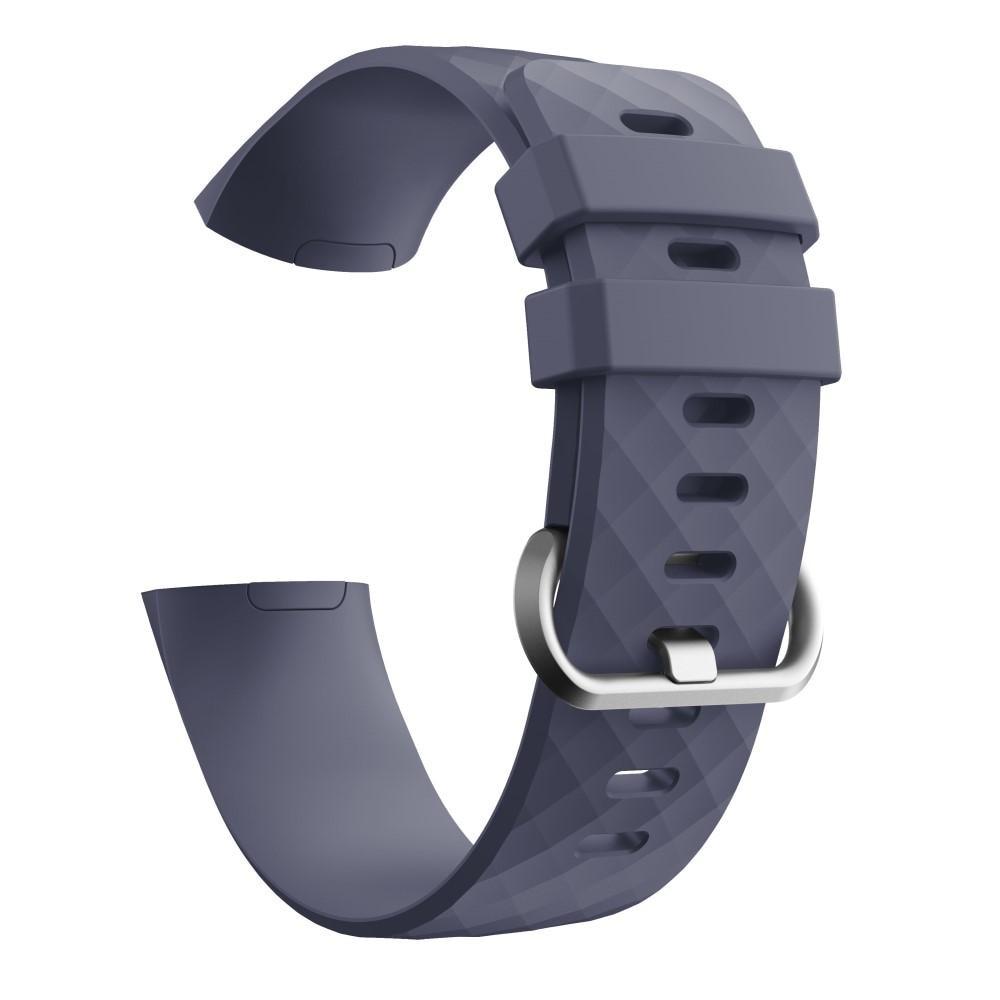 Silikonarmband Fitbit Charge 3/4 lila