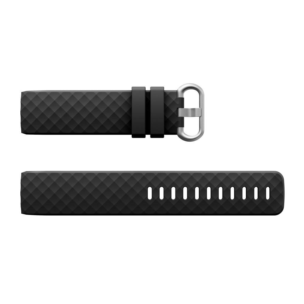 Silikonarmband Fitbit Charge 3/4 svart