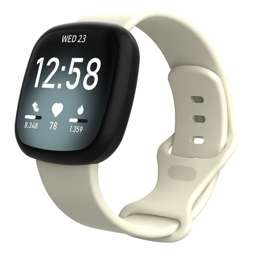 Silikonarmband Fitbit Versa 3/Sense beige (Small)