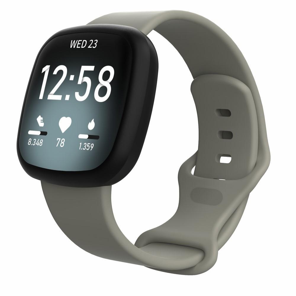 Silikonarmband Fitbit Versa 3/Sense grå (Small)