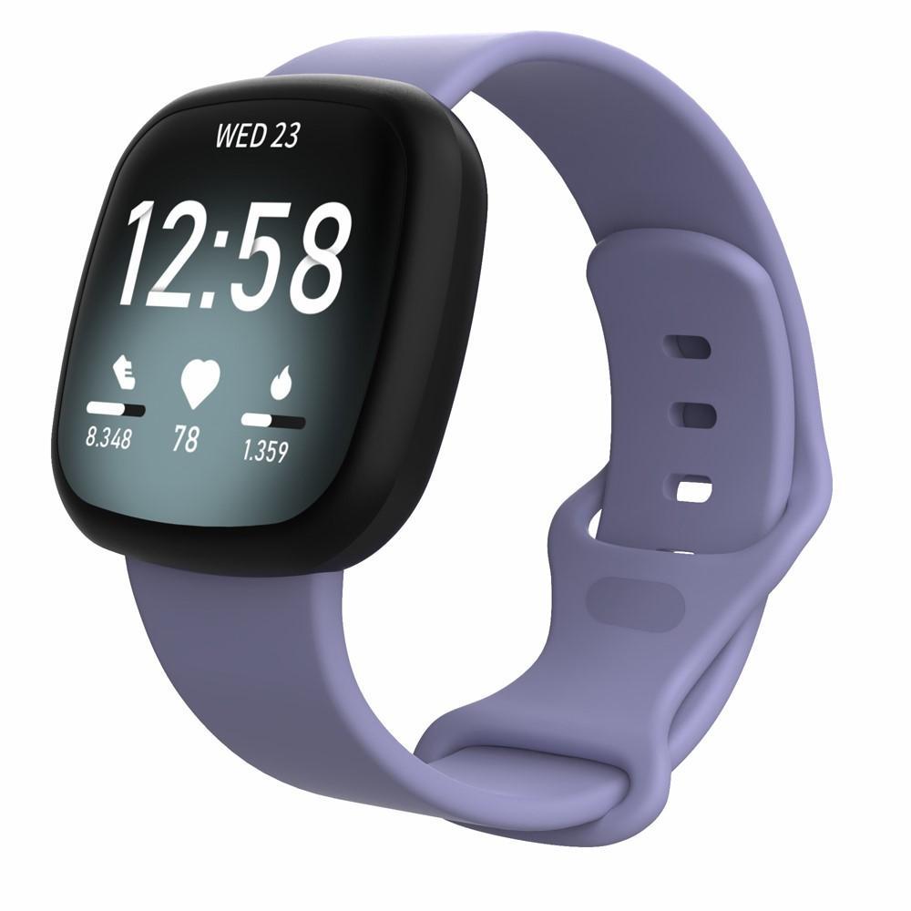 Silikonarmband Fitbit Versa 3/Sense lila (Small)