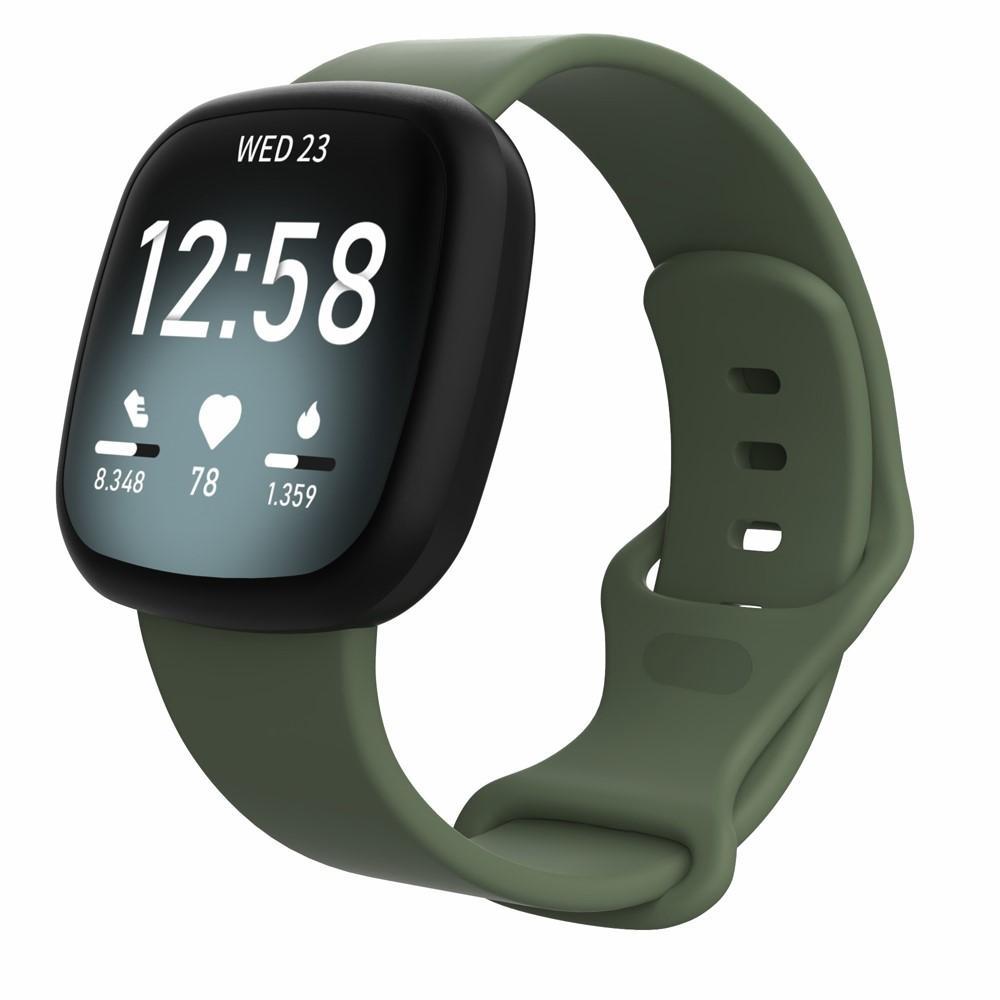 Silikonarmband Fitbit Versa 3/Sense grön (Small)