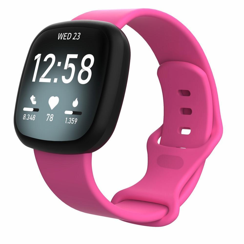 Silikonarmband Fitbit Versa 3/Sense rosa (Small)