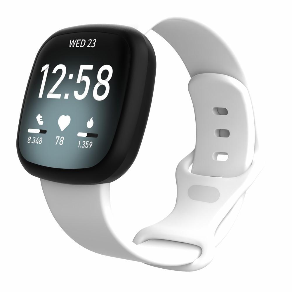 Silikonarmband Fitbit Versa 3/Sense vit (Small)