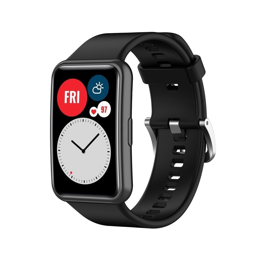 Silikonarmband Huawei Watch Fit svart