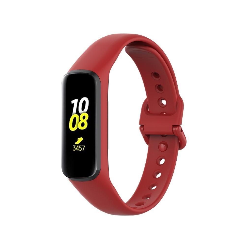 Silikonarmband Samsung Galaxy Fit 2 röd