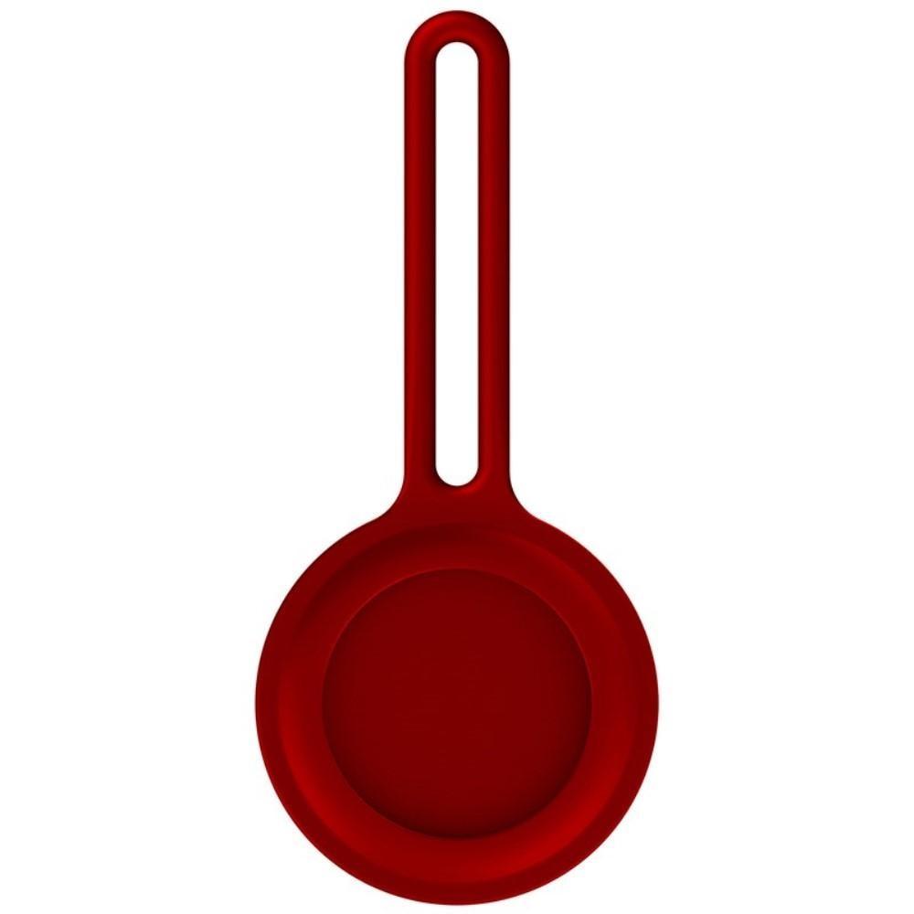 Silikonskal/nyckelring Apple AirTag röd