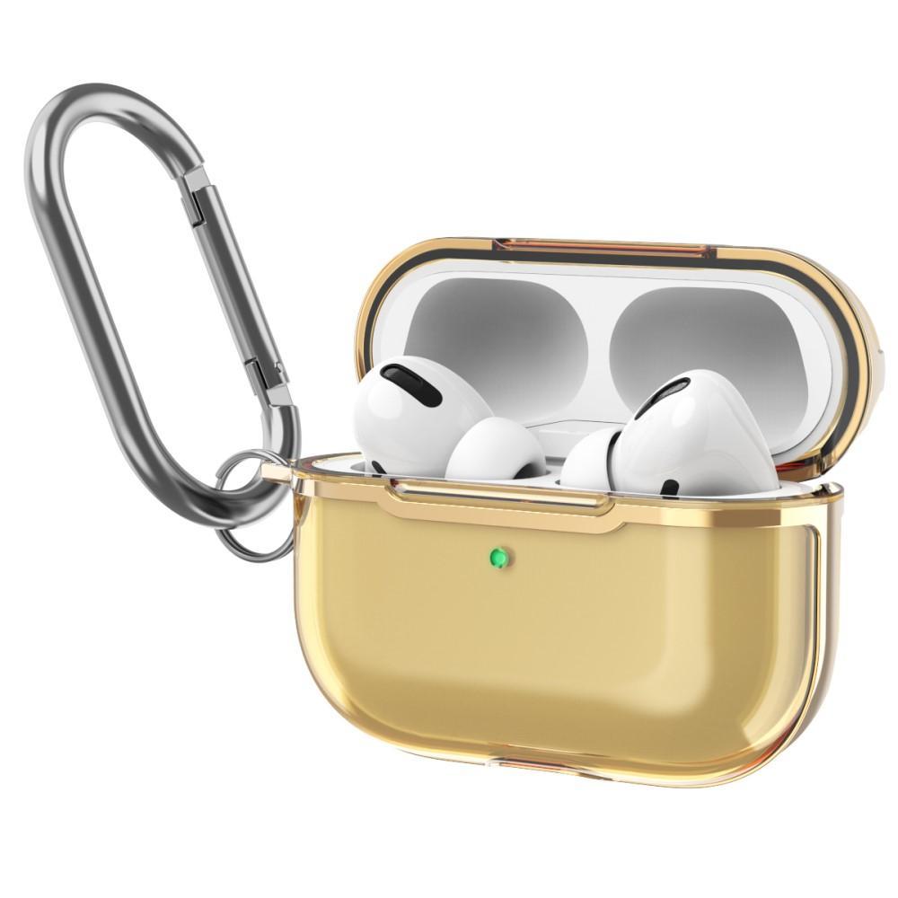 Silikonskal med karbinhake Apple AirPods Pro guld