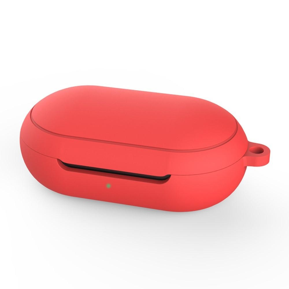 Silikonskal med karbinhake Galaxy Buds/Buds Plus röd