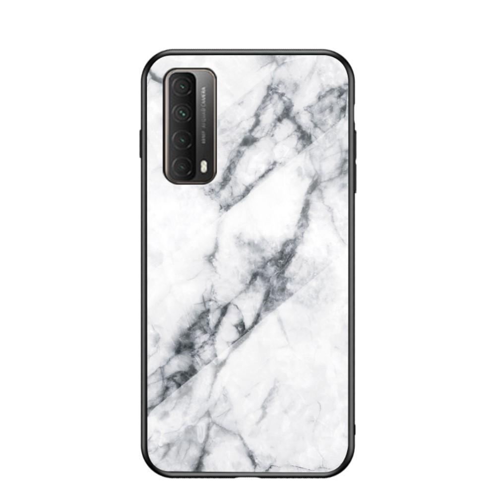Skal Härdat Glas Huawei P Smart 2021 vit marmor