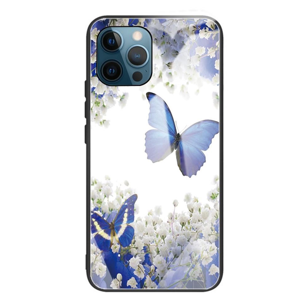 Skal Härdat Glas iPhone 12/12 Pro fjärilar
