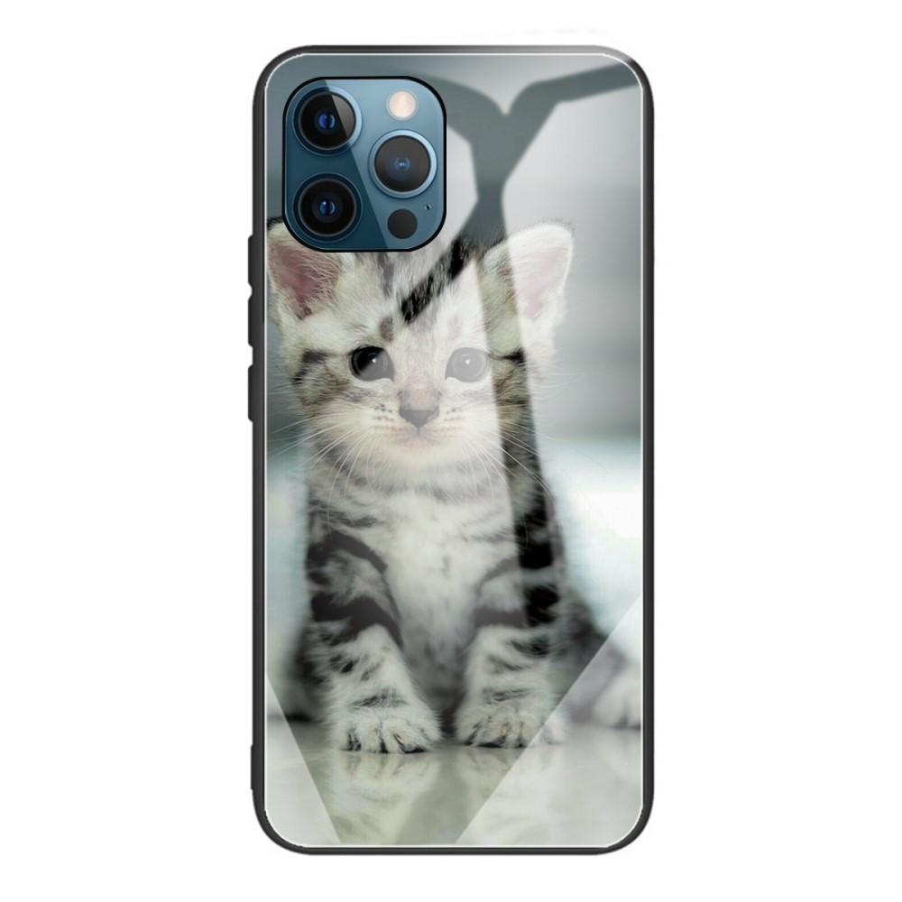 Skal Härdat Glas iPhone 12/12 Pro kattunge