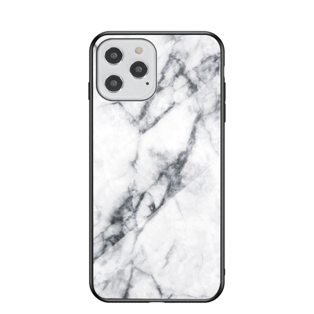 Skal Härdat Glas iPhone 12/12 Pro vit marmor