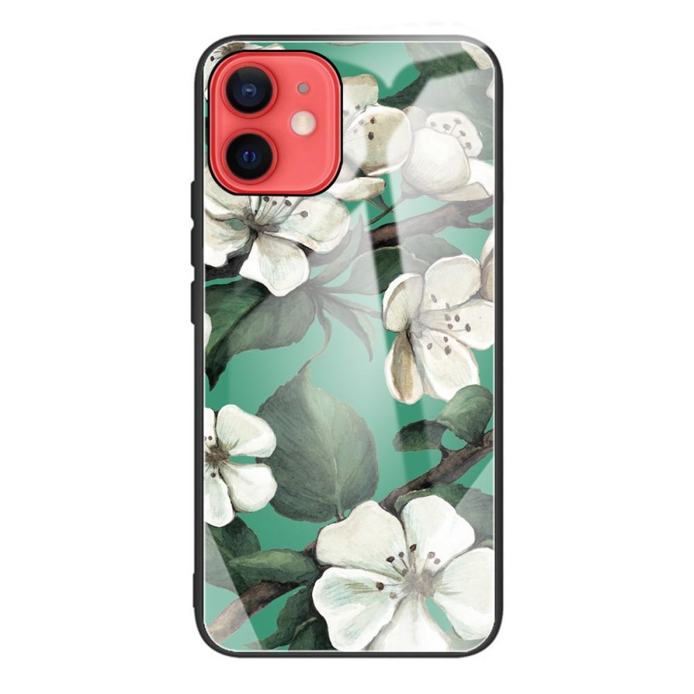 Skal Härdat Glas iPhone 12 Mini blommor