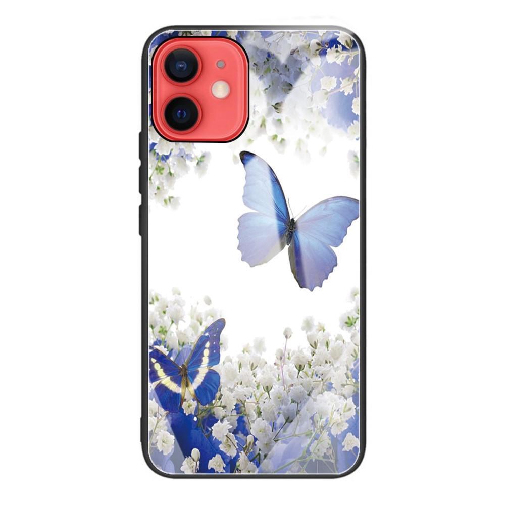 Skal Härdat Glas iPhone 12 Mini fjärilar