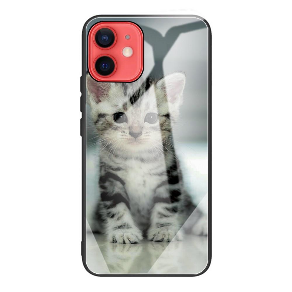 Skal Härdat Glas iPhone 12 Mini kattunge