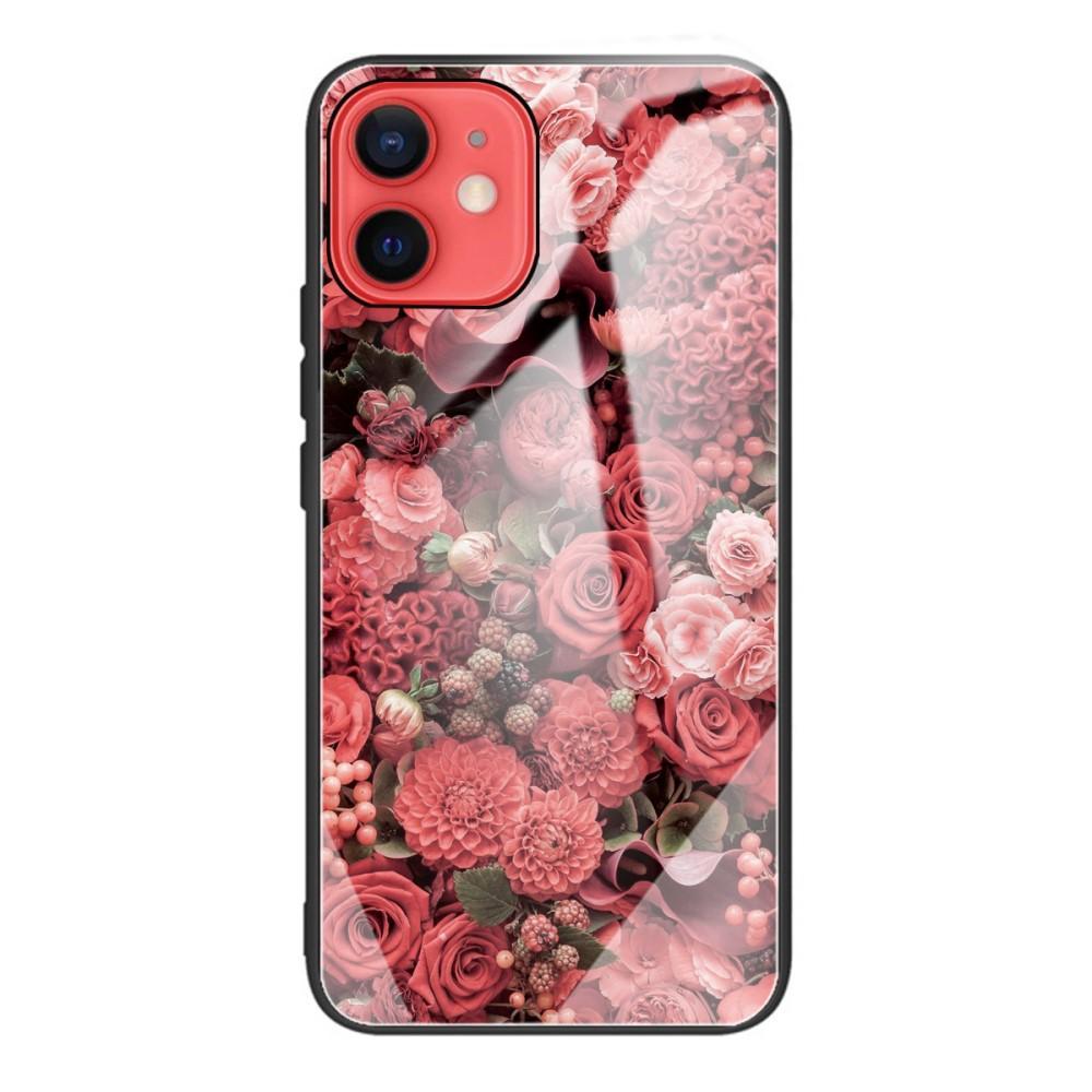 Skal Härdat Glas iPhone 12 Mini rosor