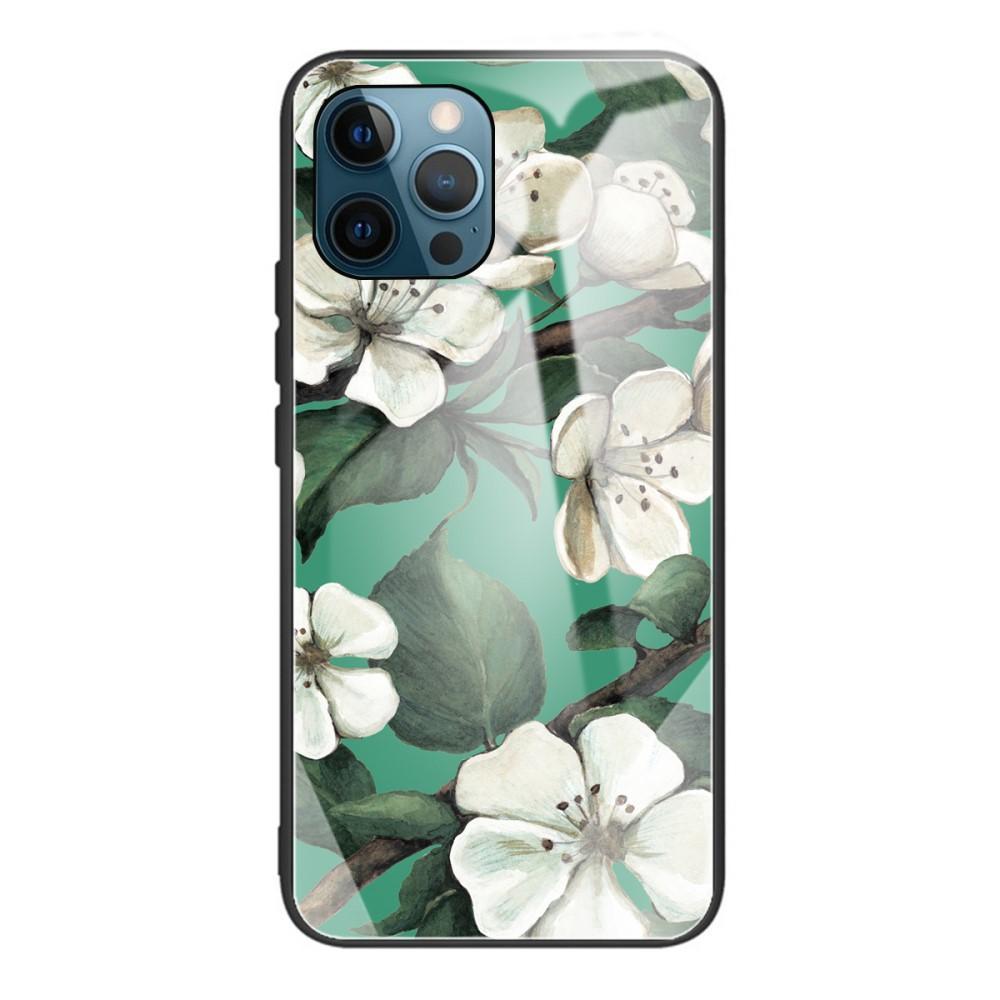 Skal Härdat Glas iPhone 12 Pro Max blommor