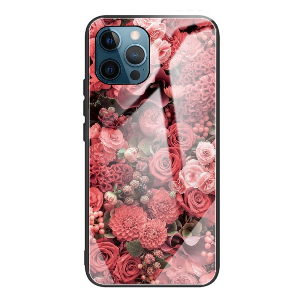 Skal Härdat Glas iPhone 12 Pro Max rosor