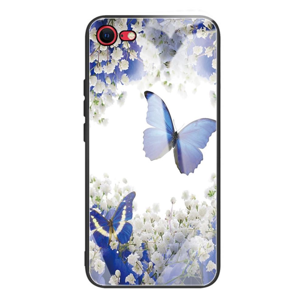 Skal Härdat Glas iPhone 7/8/SE 2020 fjärilar