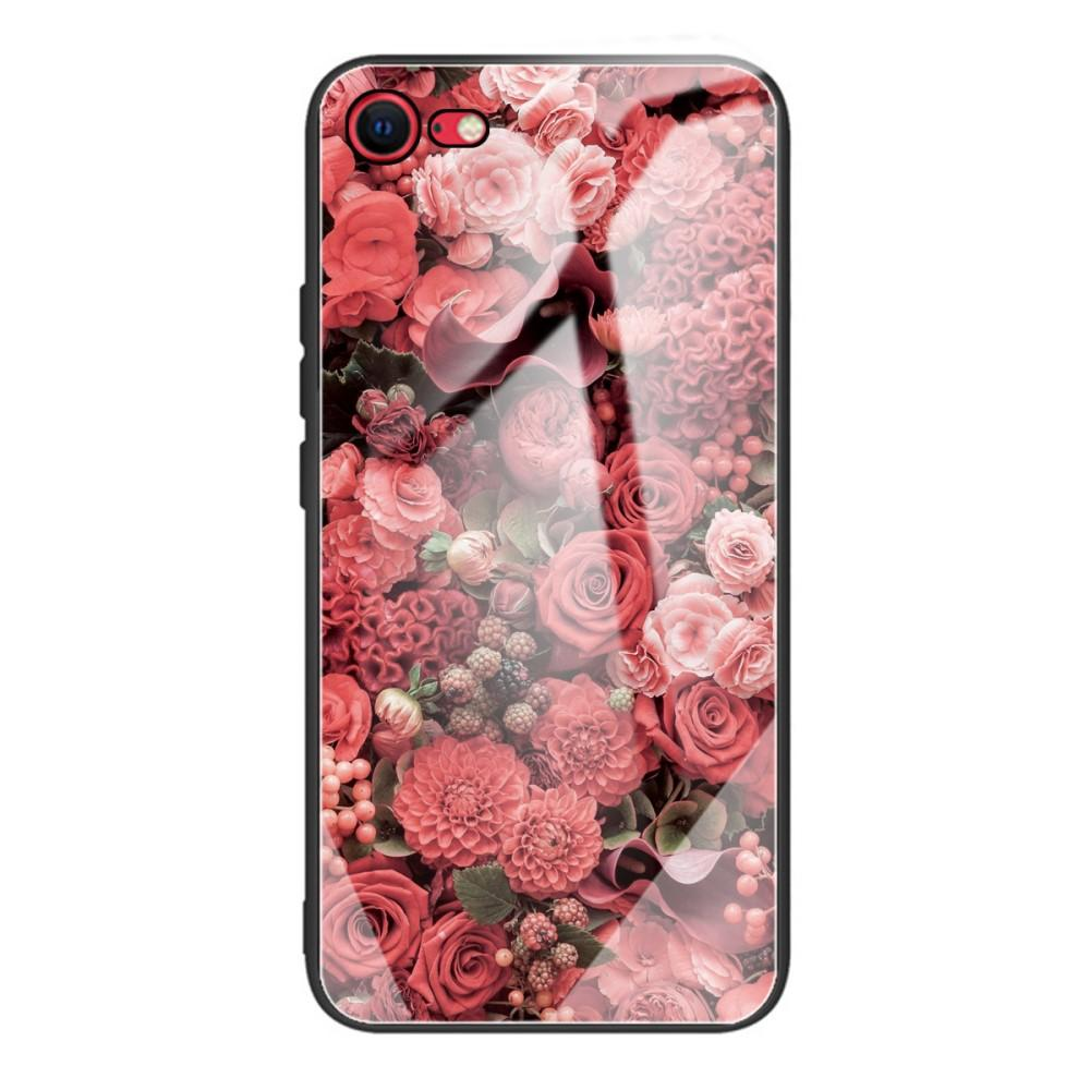 Skal Härdat Glas iPhone 7/8/SE 2020 rosor