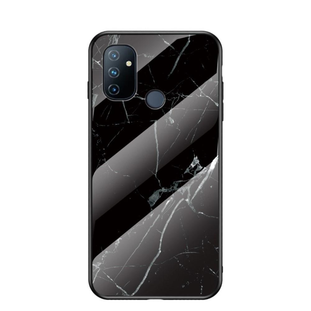 Skal Härdat Glas OnePlus Nord N100 svart marmor