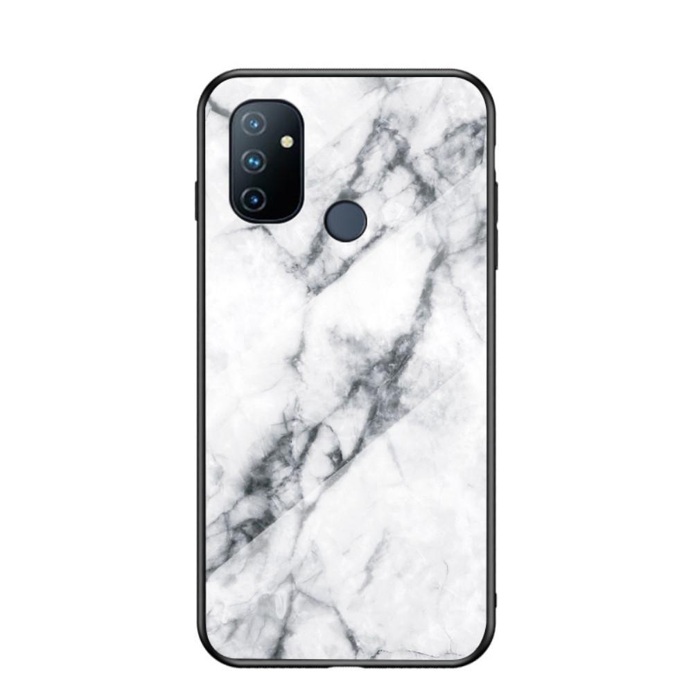 Skal Härdat Glas OnePlus Nord N100 vit marmor